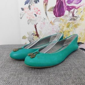 Pilcro & the Letterpress Teal Tennis Racket Flats